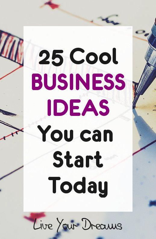 25 business ideas you can start today Here's a list of the