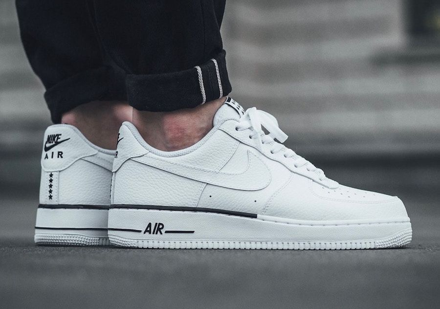 White Tumbled Leather Covers The Nike Air Force 1 Low Nike air