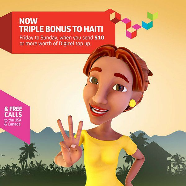 DIGICEL HAITI TRIPLE BUBBLE weekend promotion | IMTU