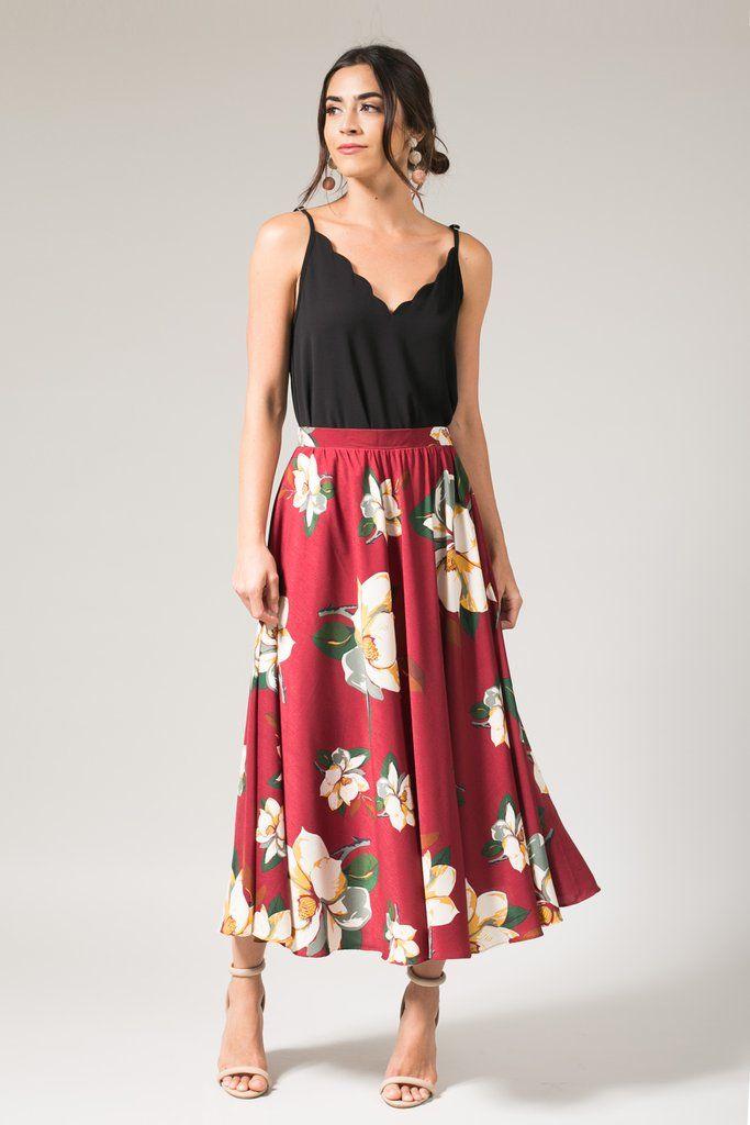 Linen skirt High waisted Midi skirt Casual Elastic waist
