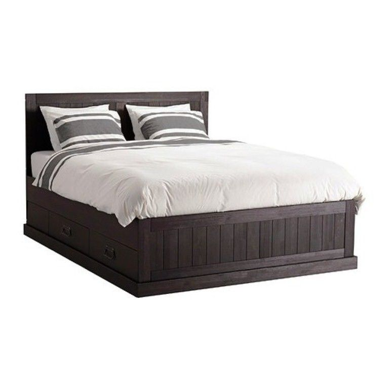 Ideas Queen Storage Drawers Bed Frame With 4 Pillows