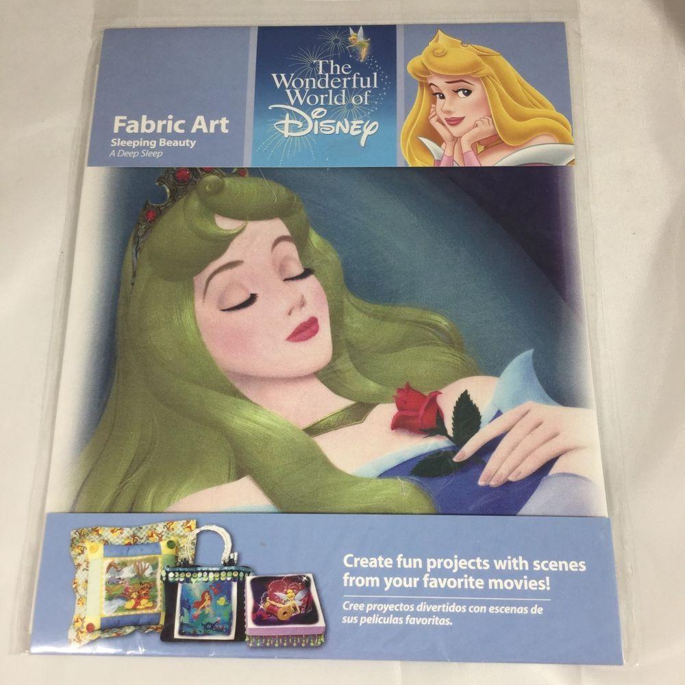 Fabric Art Panel Sleeping Beauty Wonderful World Of Disney Aurora