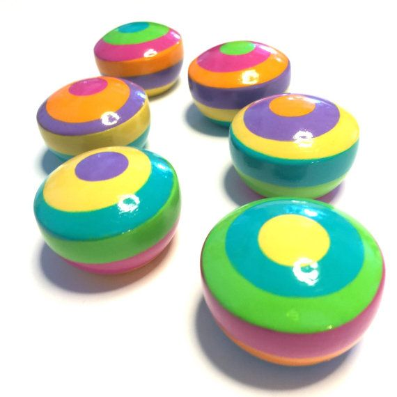 Knobs Cabinet and Drawer Knobs Six Bright Color by JUDESTUFF ...