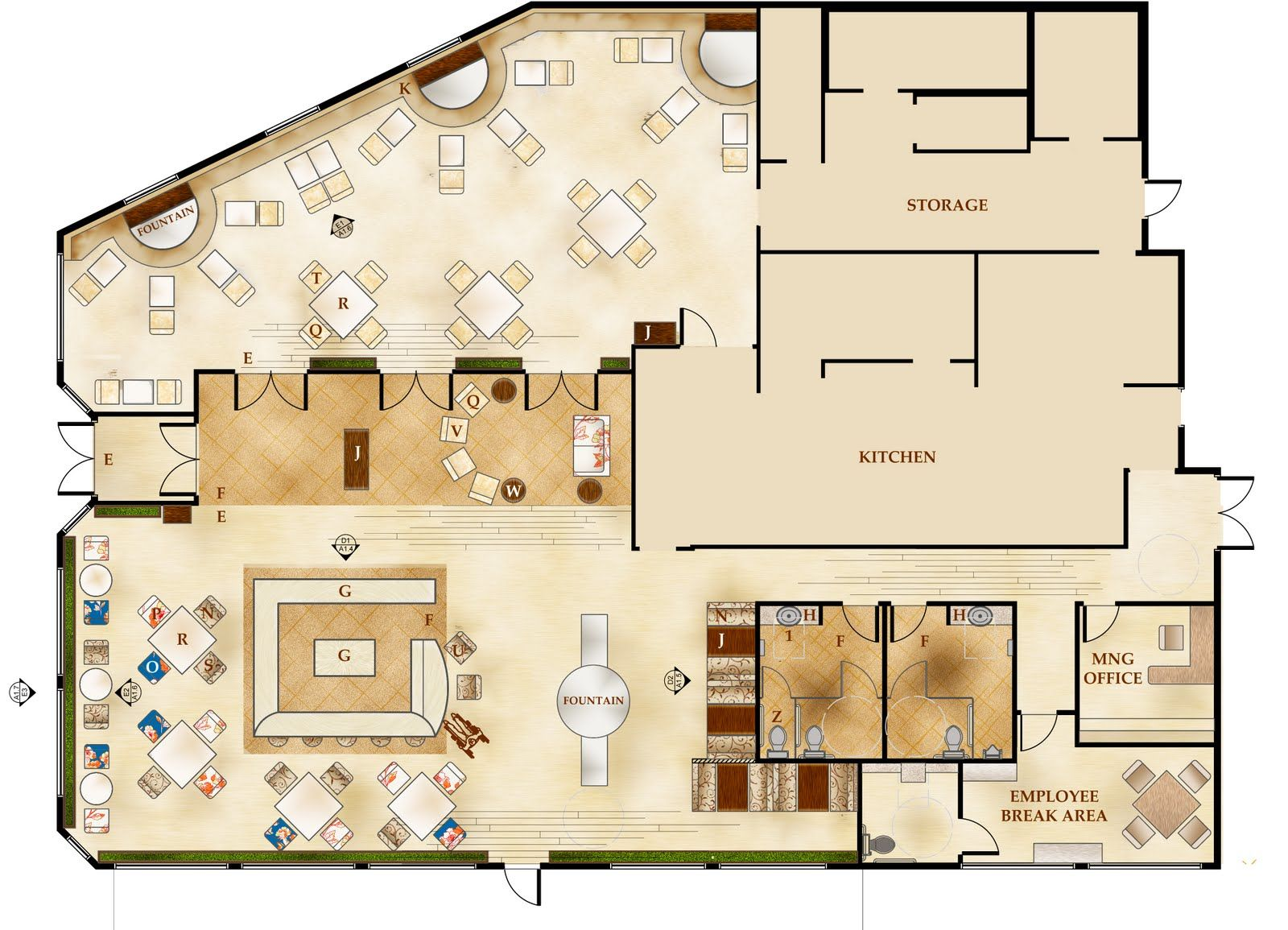 Giovanni italian restaurant floor plans architecture for Blueprint drawing program