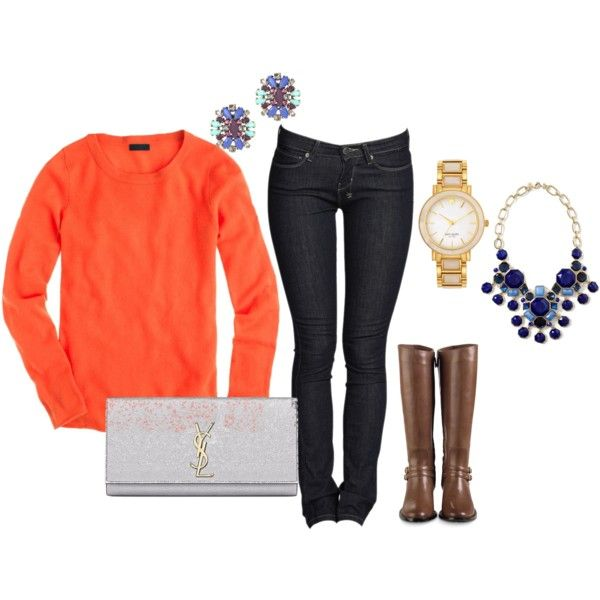 """""""Blue and Orange"""" by nutmeg-326 on Polyvore"""