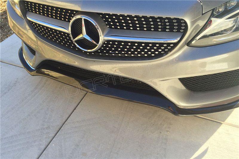 Mercedes W205 Spoiler C63 Amg W205 Sport Carbon Front Lip Spoiler (1)