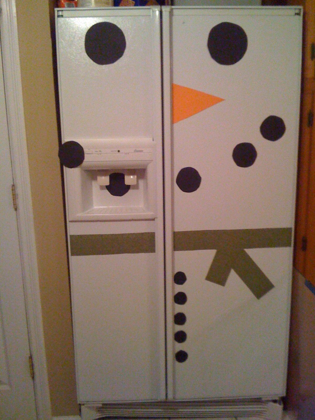 Snowman Refrigerator I Did It