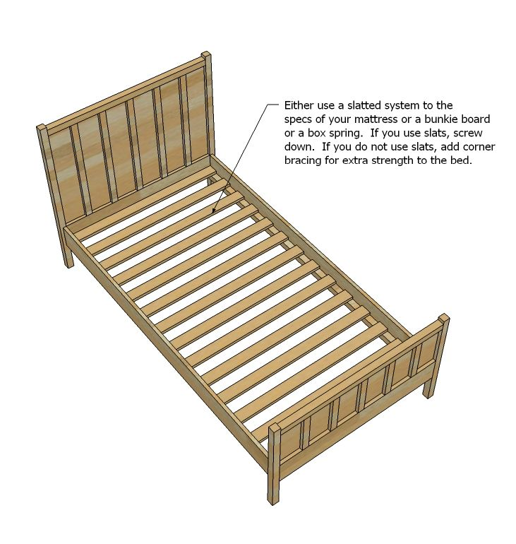 Ana White Build A Cabin Collection Single Bed Free And Easy Diy Project And Furniture Plans Single Bed Diy Bed Frame Simple Bed