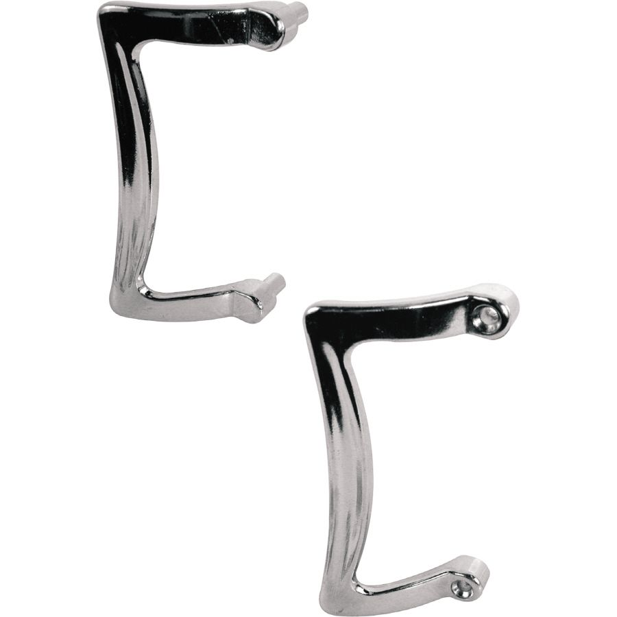 Prime Line 3 1 2 In Chrome Plate Finish Hinged Shower Door Handle Set Shower Door Handles Door Handle Sets Sliding Shower Door