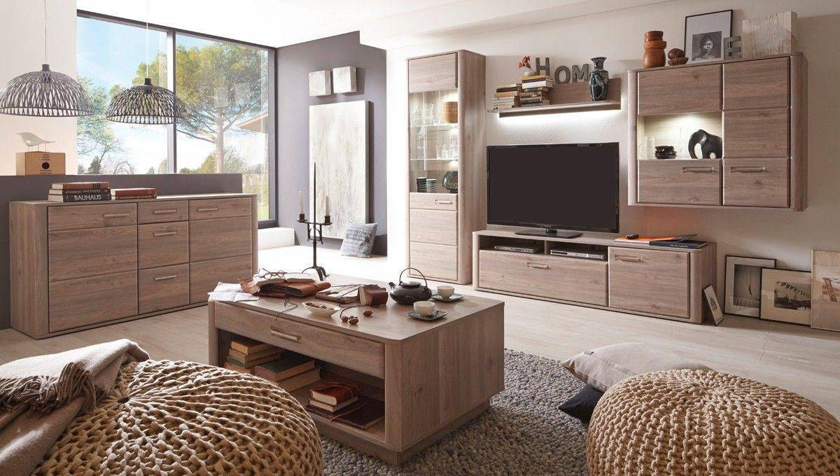 Wohnwand Ravenna Mit Sideboard Wohnzimmerschrank Eiche Nelson 20683 Buy Now At