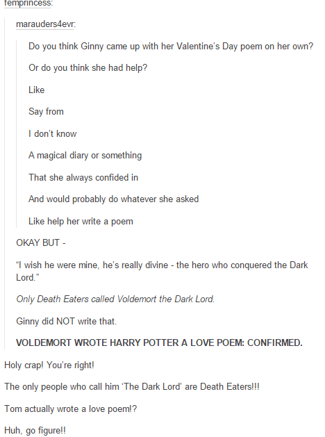 Voldemort Wrote Harry A Love Poem I Find This Information Both Amusing And Disturbing Harry Potter Voldemort Harry Potter Universal Harry Potter Love