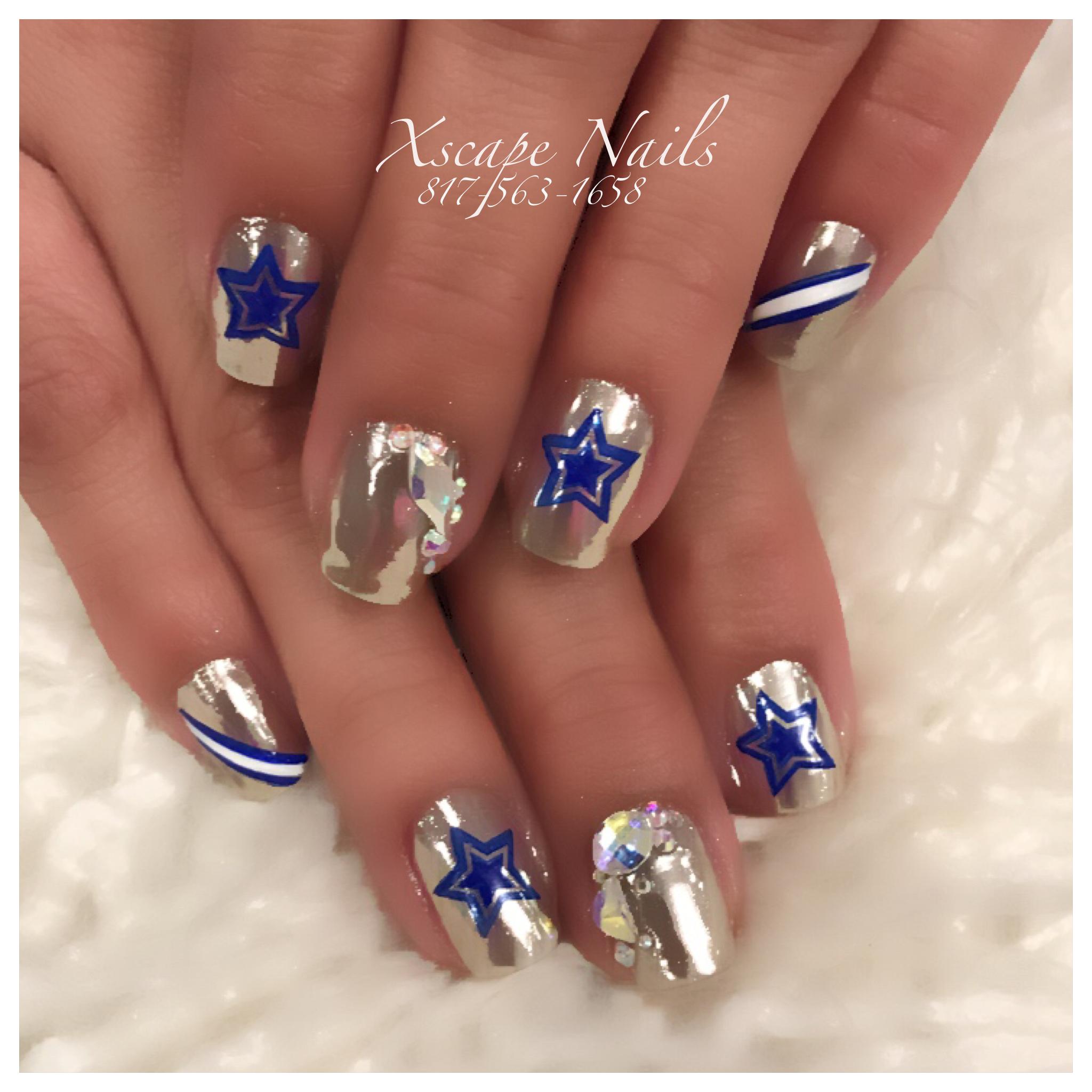 Dallas cowboys chrome nails   Cute Nails Designs   Pinterest ...