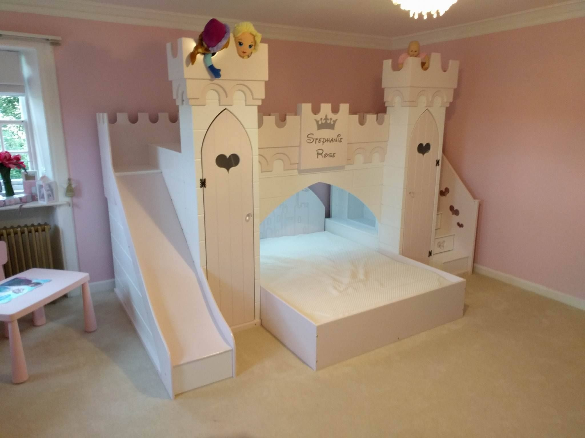 Dreamcraft princess castle delivery complete girls for Princess themed bed