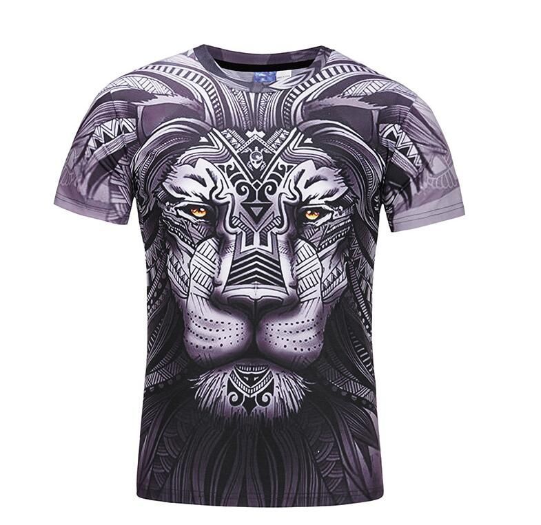 3740f8ba67b New Fashion Men Women T-shirt 3d Lion Tiger Print Designed Stylish Summer T  shirt Tops Tees