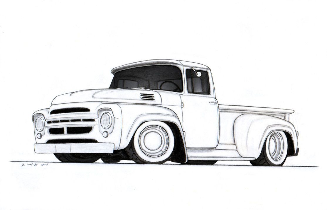 1964 ZIL-130 Stepside Custom Pickup Truck Drawing by Vertualissimo ...