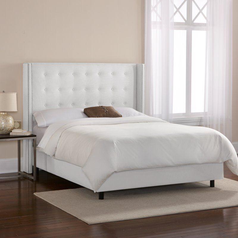 davet linen upholstered panel bed