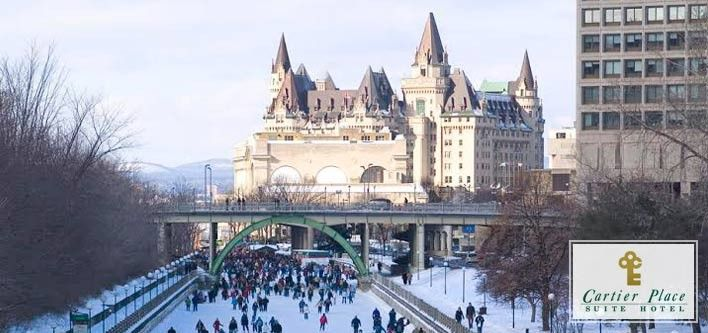 $119 for 1 Night in a One Bedroom Queen Suite at Cartier Place Suite Hotel Ottawa with Museum Passes ($216 Value)
