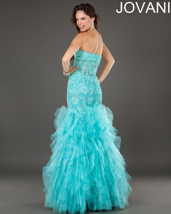 Nice Prom Dresses Strapless floor length Jovani dress... Check more ...