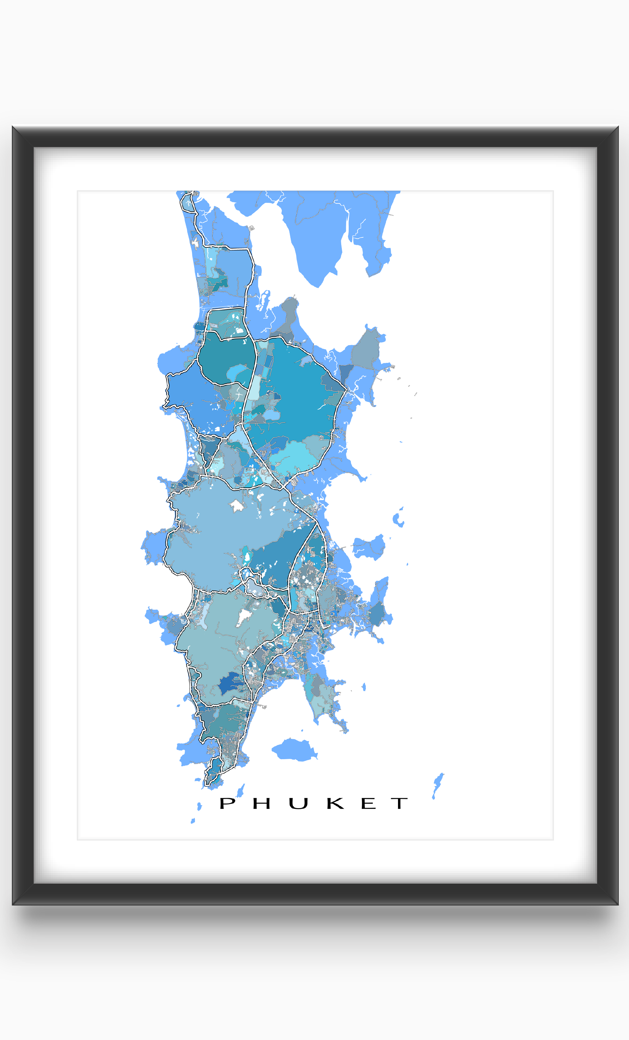 Map Of Just Asia.Phuket Map Phuket Thailand Phuket Island Art Print Asia Travel