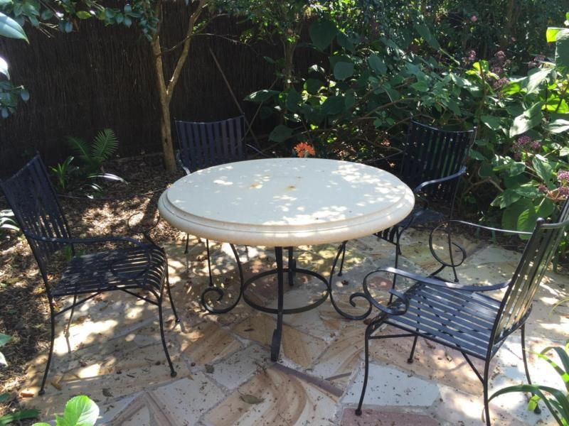 OUTDOOR SANDSTONE DINING TABLE  CHAIRS Outdoor Dining Furniture