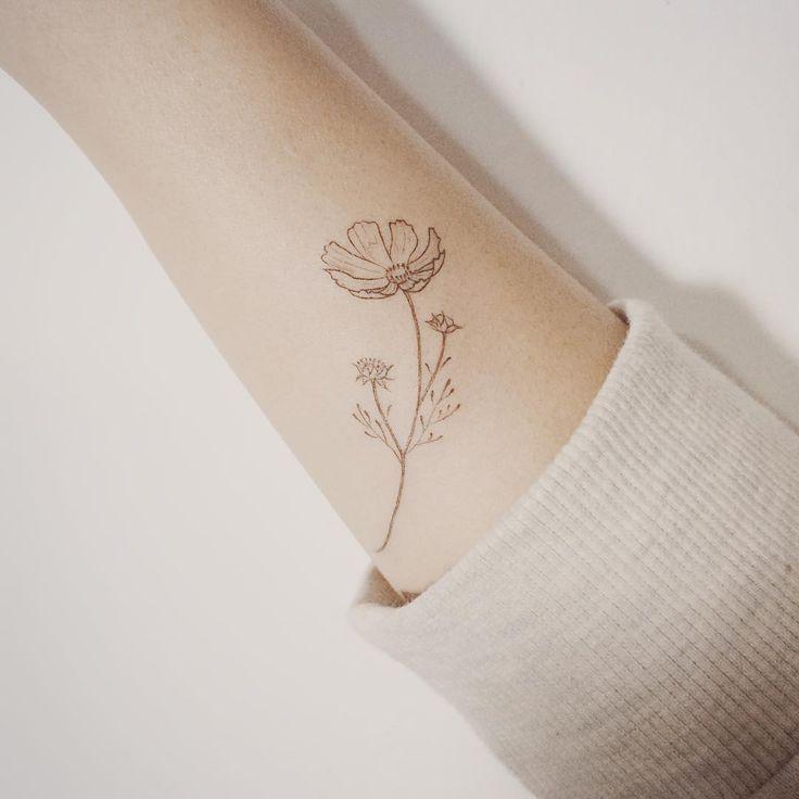 Resultat De Recherche D Images Pour Cosmos Flower Tattoo Brown Tattoo Ink Cosmos Tattoo Tattoos