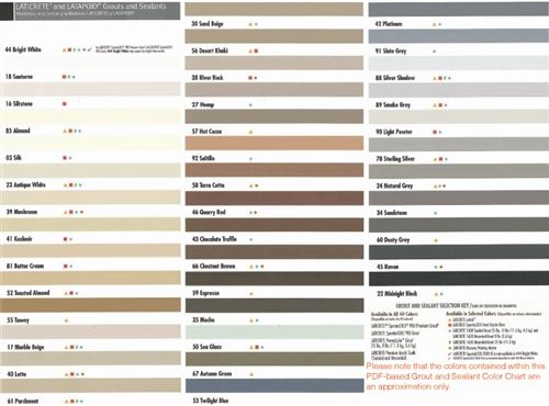 Laticrete Grout Color Chart Google Search Cottage Bath