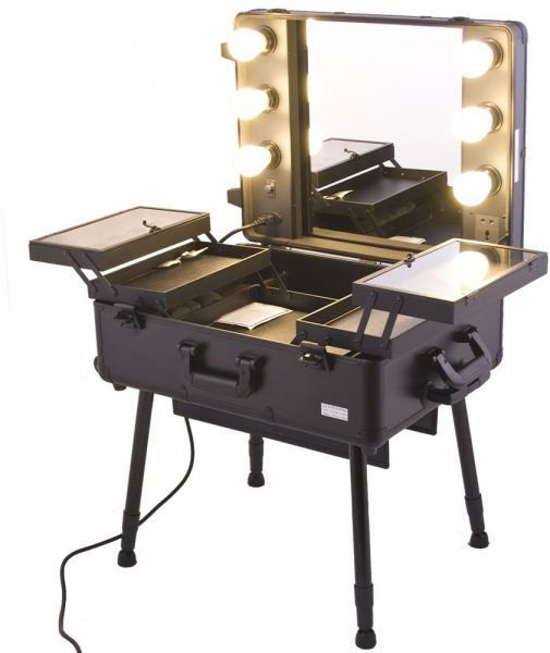 maylan makeup stand with pro studio artist trolley and