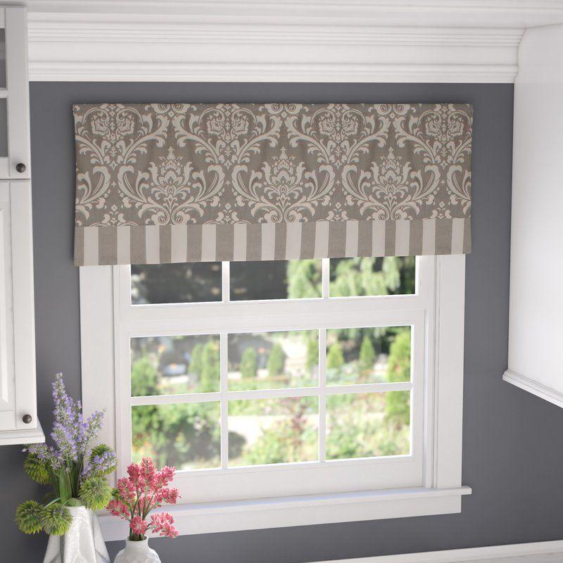 Ilya Banded 50 Window Valance Valance Home Decor Curtains