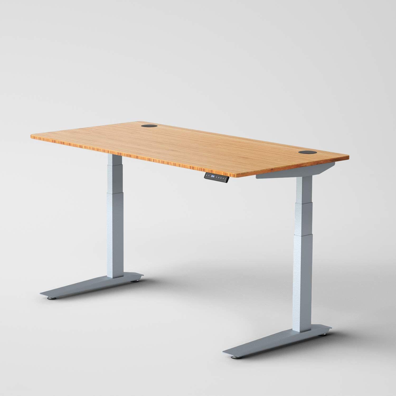 Amazon Com Jarvis Standing Desk Bamboo Top Electric Adjustable