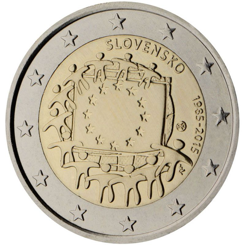 Eslovaquia 2 Euros Conmemorativos 2015 Bandera Monedas Monedas De Euro Euro