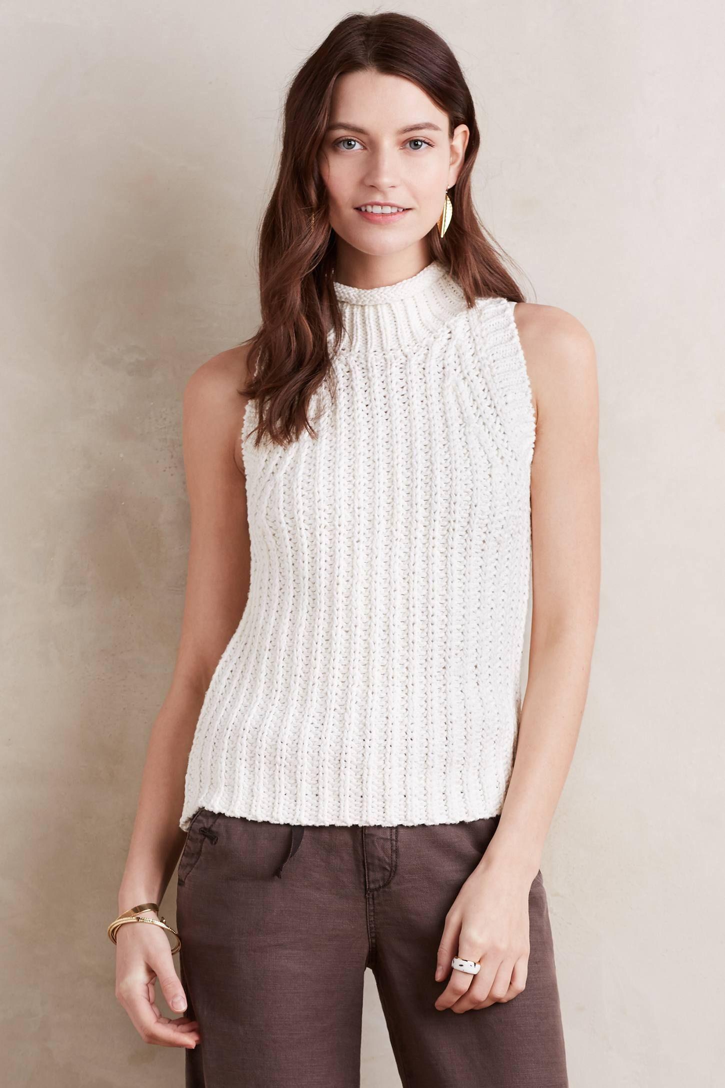92d98b603e Roll-Neck Knit Tank | Make a Statement | Roll neck sweater, Knitted ...