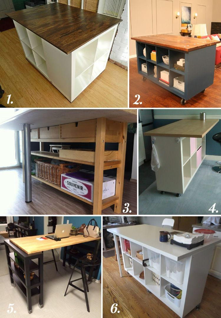 kitchen island table ikea DIY CUTTING TABLE IDEAS FOR YOUR SEWING STUDIO