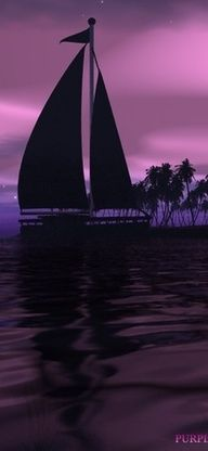 Sailing in shades of purple.