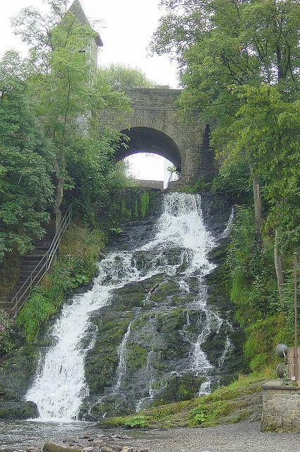 Waterfall Of Coo Belgium Waterfall Belgium Scotland Castles