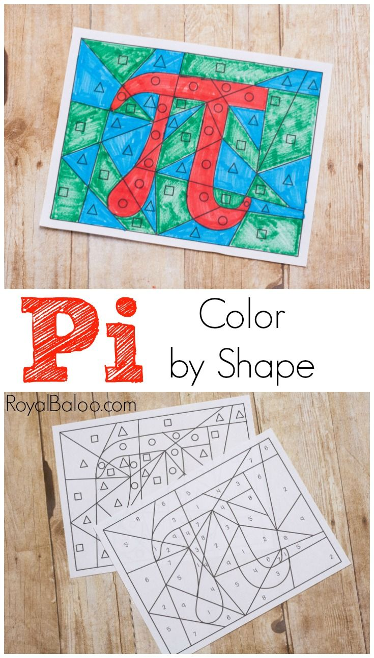 Pi Color By Shape Fun Pi Activity For Kids Activities Shapes