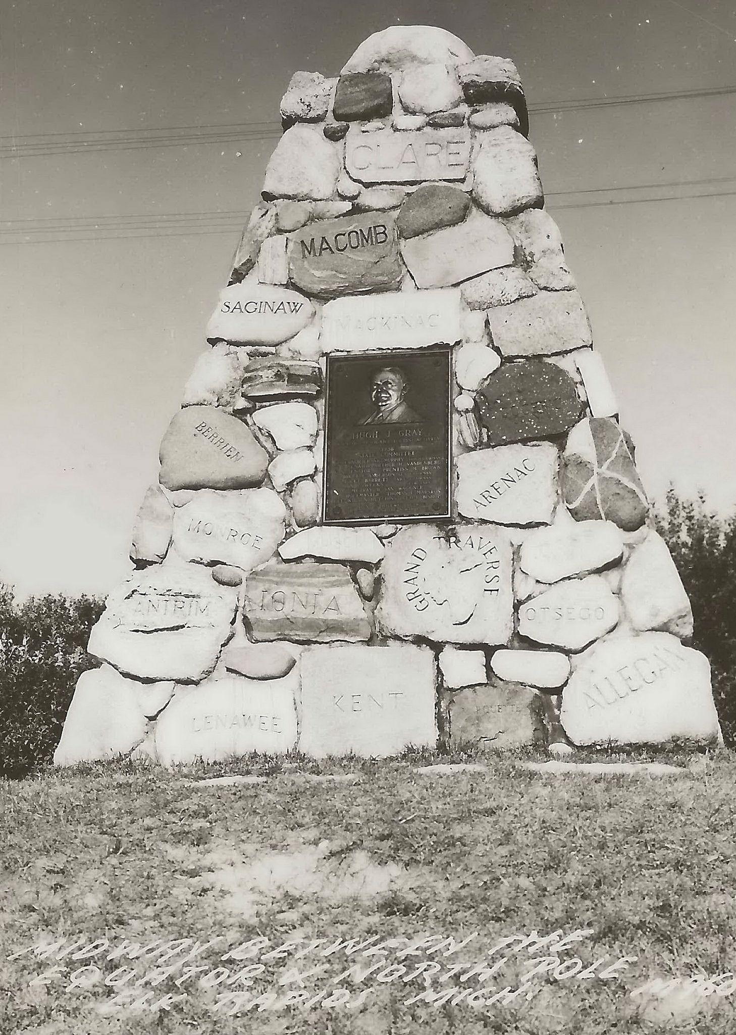 Michigan antrim county kewadin - Nw Elk Rapids Kewadin Mi Rppc Roadside Carin State County Tourism Memorial June 28 1938 Hugh J Gray Cairn Officially Dedicated His Own Memorial Antrim