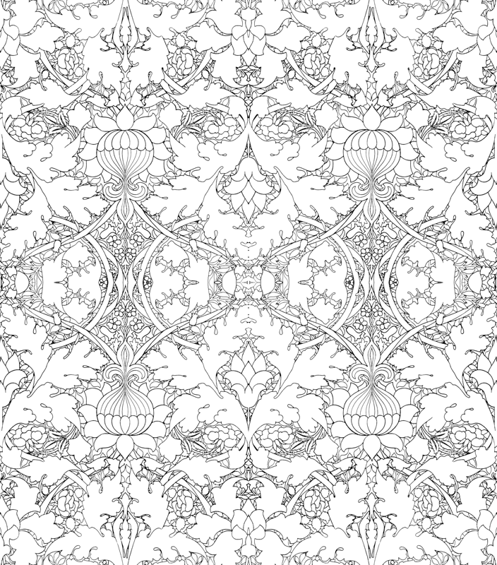 William Morris Colouring Pages 10 William Morris Growing Damask ...