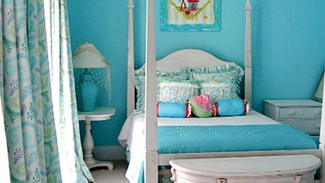 Chambre Jeune Fille Bleu  Image Sur Le Design Maison