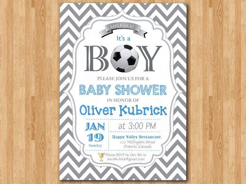 Soccer baby shower invitation baby boy chevron invites baby boy soccer baby shower invitation baby boy chevron by arthomer 1000 filmwisefo