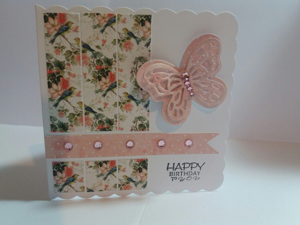 Floral female birthday card handmade using a paper pack from the floral female birthday card handmade using a paper pack from the range kristyandbryce Images