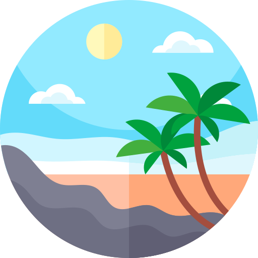 2 639 Free Vector Icons Of Island Free Icons Beach Icon Vector Free