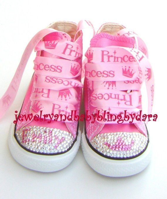 ba92784ce1fcbe Crystal Converse Swarovski Converse Bling Converse Infant Toddler DIVA  PRINCESS Bling Crystal Pink Converse Hi-Top Sneakers Shoes