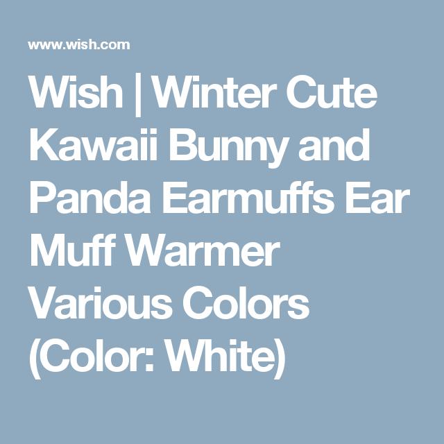 Wish | Winter Cute Kawaii Bunny and Panda Earmuffs Ear Muff Warmer Various Colors (Color: White)