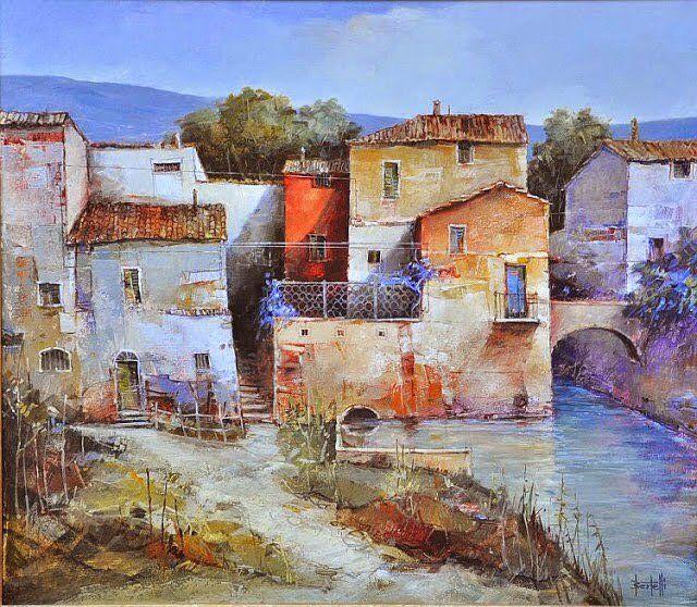 Painting by Romano Bertelli