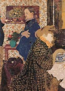 Valloton and Misia in the Dining Room at Rue Saint-Florentin - Edouard Vuillard