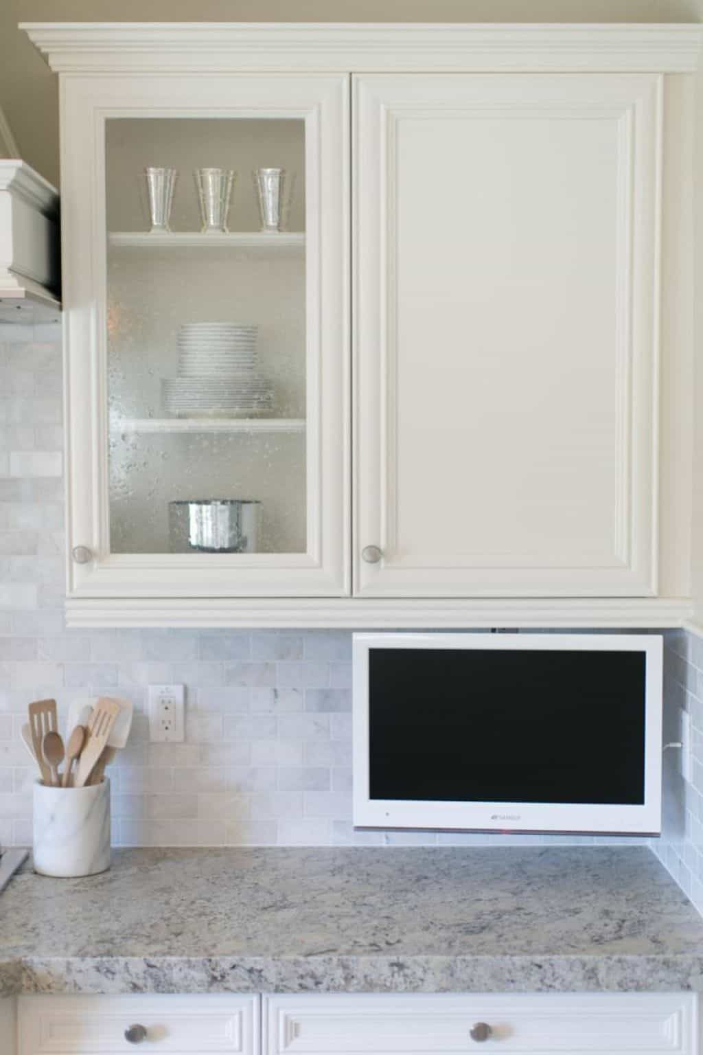 Adding A Kitchen Tv Can Be A Great Idea Small Kitchen Tv Tv In Kitchen Kitchen Remodel Small