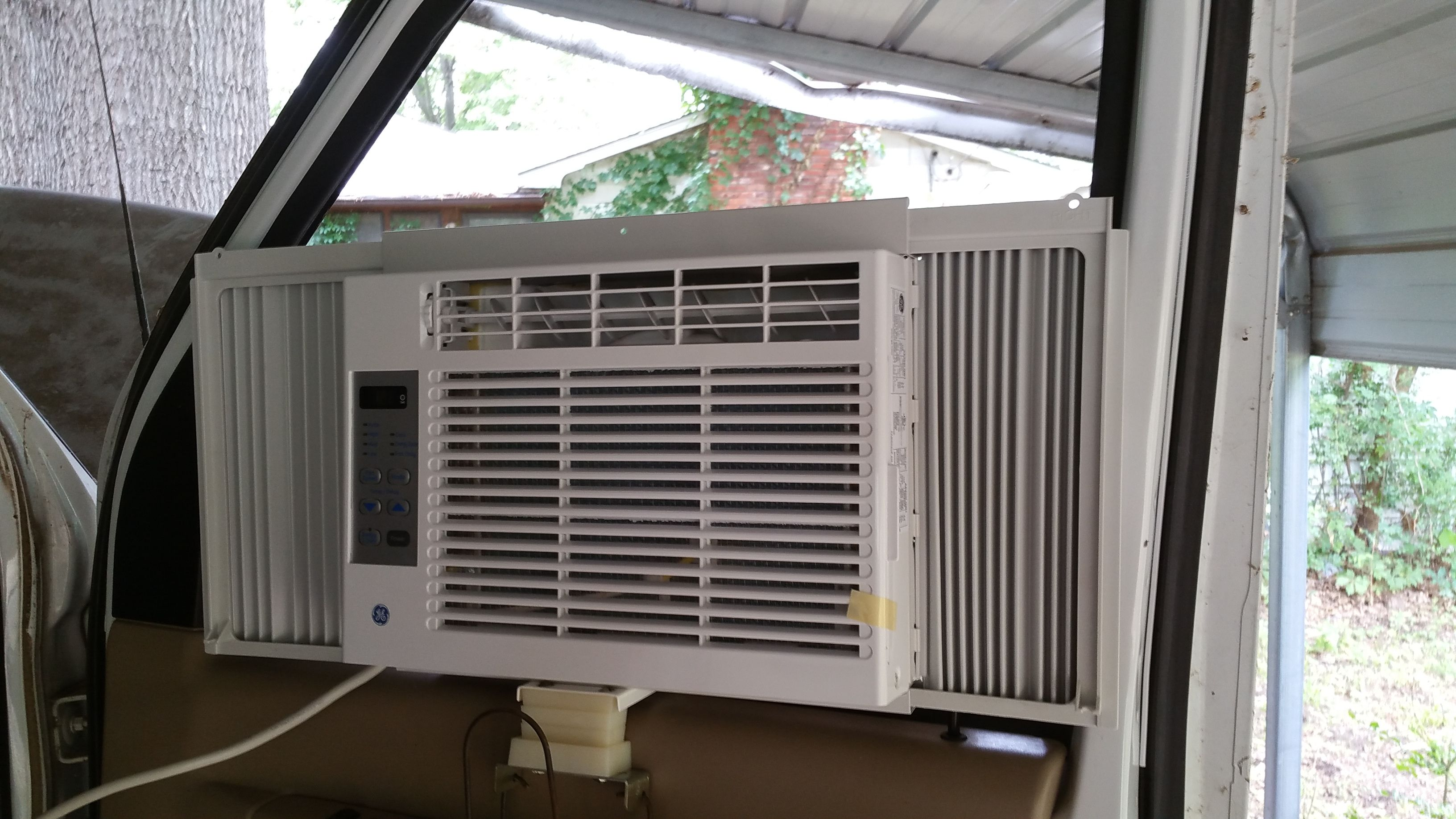 Installing a home window aC unit into a van that can be