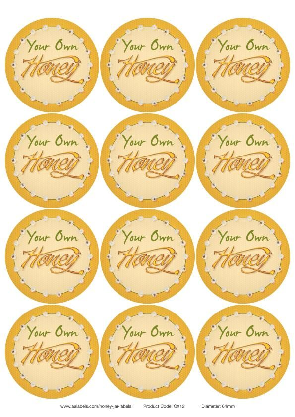 graphic relating to Honey Jar Labels Printable named Ode in direction of the Honey Bee\