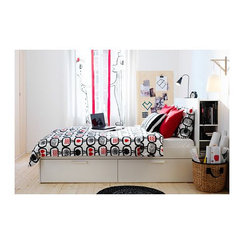 brimnes bed frame with storage white bed frames storage