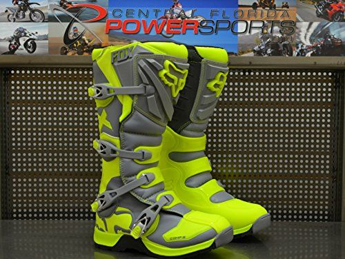 Fox Racing Comp 5 MX Off Road Riding Boots Gray Yellow Size